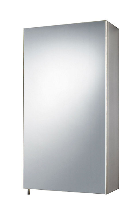 B Q Fonteno Mirrored Cabinet W 300mm H 550mm Diy At B Q