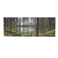 B&Q Forest Multicolour Canvas art (H)450mm (W)1200mm