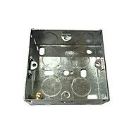 B&Q Metal 25mm Single Pattress box