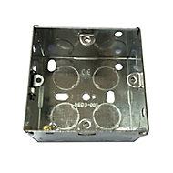 B&Q Metal 35mm Single Pattress box