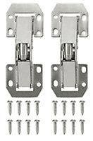 B&Q Nickel-plated Metal Sprung Door hinge N349 (L)106mm, Pack of 2