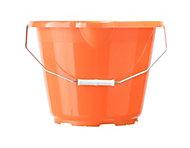 B&Q Orange Plastic 12L Bucket