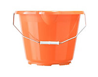 B&Q Orange Plastic 12L Bucket