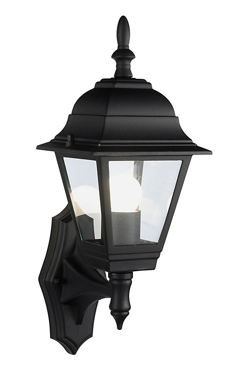 B Q Penarven Black Mains Powered Outdoor Wall Lantern Diy At B Q