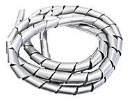 B&Q White 16mm Cable wrap, (L)1m