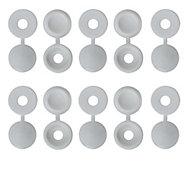 B&Q White Screw cap (Dia)12mm, Pack of 100