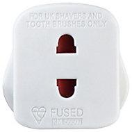 B&Q White Shaver socket