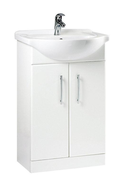 B Q White Vanity Unit Basin Diy At B Q