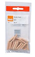 B&Q Wood Dowel (L)30mm (Dia)6mm, Pack of 25