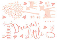 Baby Colours Little deer Pink Self-adhesive Wall sticker