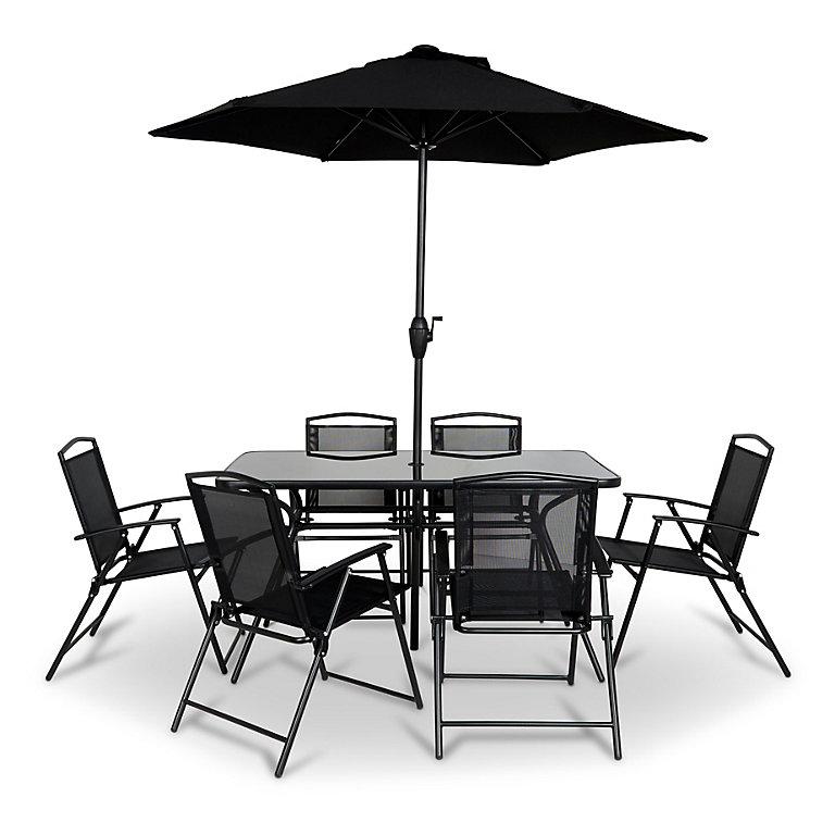 Bahama Metal 6 Seater Dining Set Diy At B Q