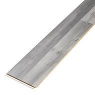 Bairnsdale Dark grey Gloss Oak effect Laminate Flooring Sample