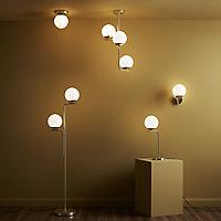 Baldaz Brushed Brass effect Pendant ceiling light, (Dia)160mm