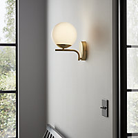Baldaz Matt Brass effect Wall light