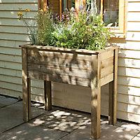 Bamburgh Wooden Rectangular Planter 100cm
