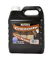 Bartoline Dark brown Matt Creocote wood treatment 4L