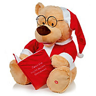 Battery-powered Story telling Bear in santa clothing Animated & musical character