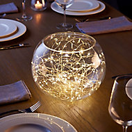 Battery-powered Warm white 50 LED Indoor String lights