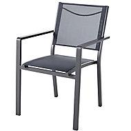 Batz Black ebony Metal Armchair