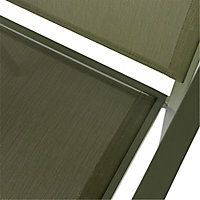 Batz Kaki green Metal Armchair