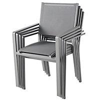 Batz Steel grey Metal Armchair