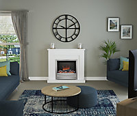 Be Modern Alder White Chrome effect Electric Fire suite