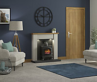 Be Modern Attley Black Stone effect Electric Stove suite
