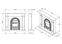 Be Modern Deansgate Light grey & black Fire suite