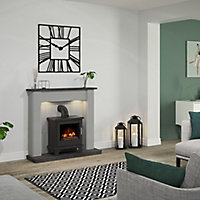 Be Modern Eastcote Grey Fire surround with lights