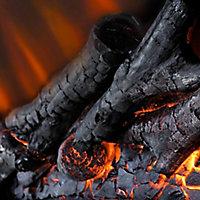 Be Modern Ekon Black Nickel effect Electric Fire