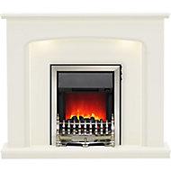 Be Modern Ellison Black Chrome effect Electric Fire suite