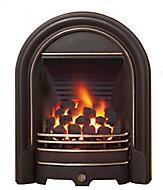 Be Modern Everett multi flue Black Gas Fire BEMO8140