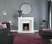 Be Modern Lauretta White Fireplace surround set