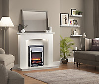 Be Modern Midland White Fire surround with lights