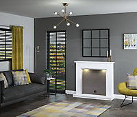 Be Modern Nightwood White Fire surround with lights