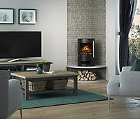 Be Modern Orba Black Cast iron effect Stove