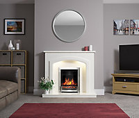 Be Modern Perlita White Fire surround with lights