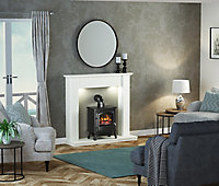 Be Modern Templeton White Fire surround with lights