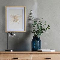 Bee White Framed print (H)430mm (W)330mm