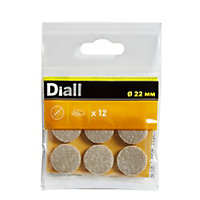 Beige Felt Protection pad (Dia)22mm, Pack of 12