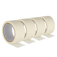 Beige Masking Tape (L)25m (W)48mm, Pack of 4