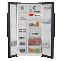 Beko ASD2341VB American style Black Freestanding Fridge freezer