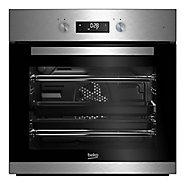Beko BQM22301XC Black & stainless steel Built-in Electric Single Multifunction Oven