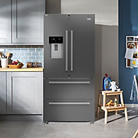 Beko GNE360520DX American style Freestanding Fridge freezer
