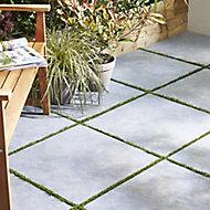 Belgium Anthracite Matt Stone Stone effect Porcelain Outdoor Floor tile, Pack of 2, (L)600mm (W)600mm