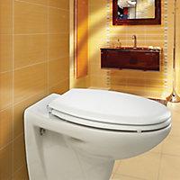 Bemis New York White Sta-tite bottom fix Soft close Toilet seat