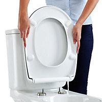 Bemis Push n'Clean White Sta-tite top fix Soft close Toilet seat