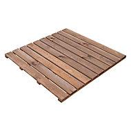 Benoue Pine Deck tile (L)1m (W)1000mm (T)40mm