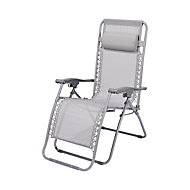 Bergama Grey Metal Sun lounger