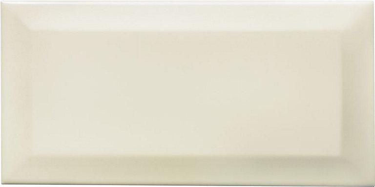 Bevelled Edge Cream Gloss Ceramic Wall Tile Pack Of 50 L 200mm W 100mm Diy At B Q